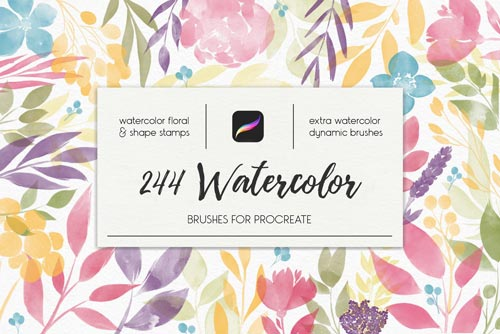 244 Watercolor Brushes For Procreate.jpg