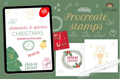 Christmas Procreate Stamps.jpg