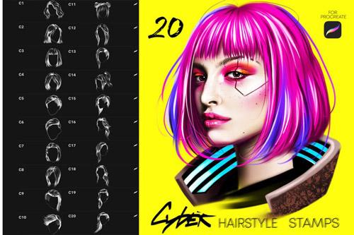 CyberPunk Hair Brushes.jpg