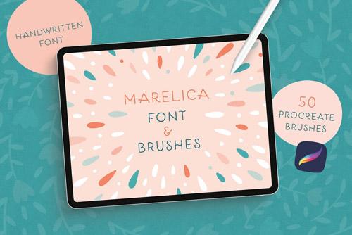 Marelica Font & Procreate Brushes.jpg